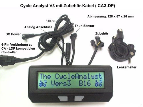 Cycle analyst direct plug in large screen V3