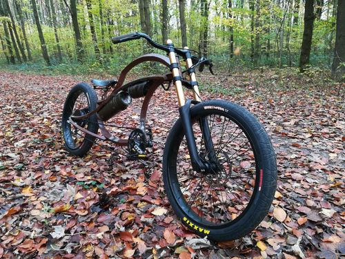Rusty Chopper Handmade Pedelec FRB Firebike E-Bike Vorführer Sale