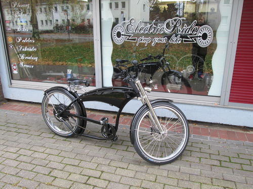 e-Bike Pedelec Cruiser Herren Fahrrad Beachcruiser Chopper Basman